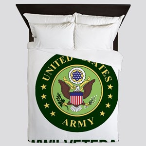 Army-WWII-Shirt-2 Queen Duvet