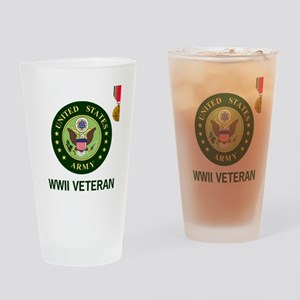 Army-WWII-Shirt-2 Drinking Glass