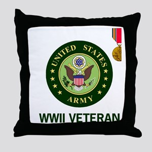 Army-WWII-Shirt-2 Throw Pillow