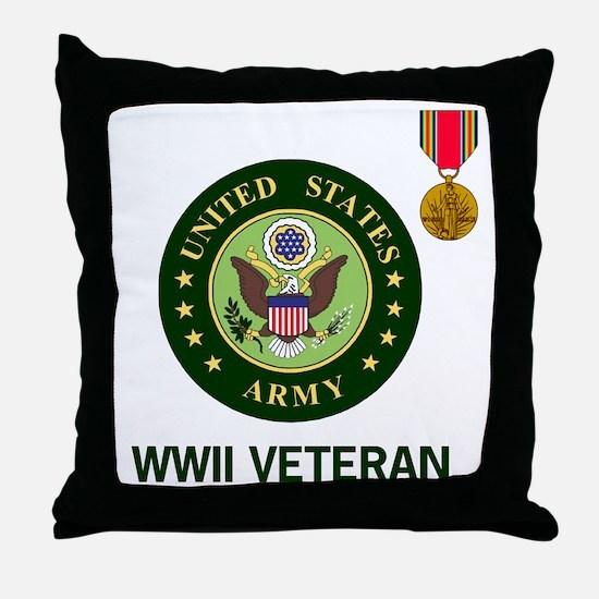 Army-WWII-Shirt-2.gif Throw Pillow