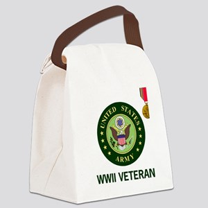Army-WWII-Shirt-2 Canvas Lunch Bag