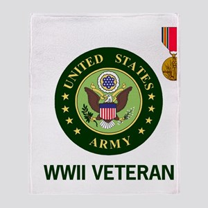 Army-WWII-Shirt-2 Throw Blanket