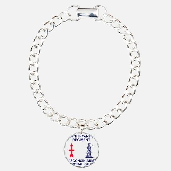 ARNG-128th-Infantry-Shir Charm Bracelet, One Charm