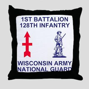 ARNG-128th-Infantry-1st-Bn-Shirt-1.gi Throw Pillow