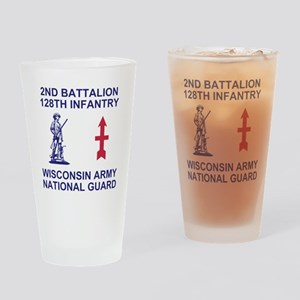 ARNG-128th-Infantry-2nd-Bn-Shirt-4- Drinking Glass