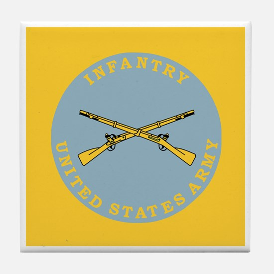 Army-Infantry-Button.gif Tile Coaster