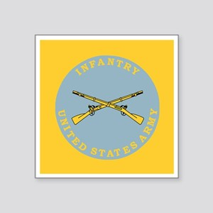 """Army-Infantry-Button Square Sticker 3"""" x 3"""""""