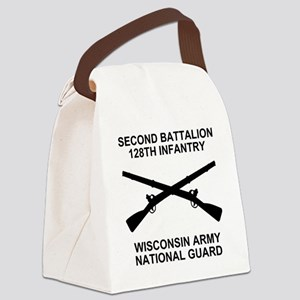 ARNG-128th-Infantry-2nd-Bn-Shirt- Canvas Lunch Bag