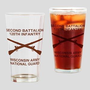 ARNG-128th-Infantry-2nd-Bn-Shirt-6- Drinking Glass