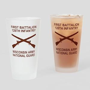 ARNG-128th-Infantry-1st-Bn-Shirt-6- Drinking Glass