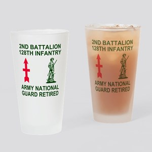 ARNG-128th-Infantry-2nd-Bn-Retired- Drinking Glass