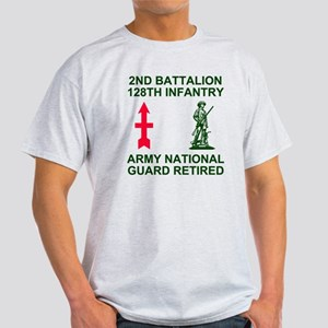 ARNG-128th-Infantry-2nd-Bn-Retired-S Light T-Shirt