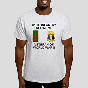 ARNG-128th-Infantry-WWII-Veteran-Bac Light T-Shirt