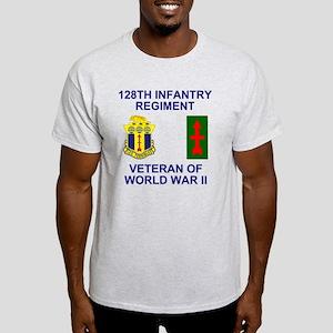 ARNG-128th-Infantry-WWII-Veteran-Fro Light T-Shirt