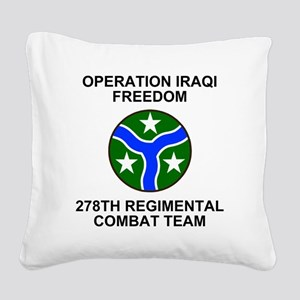 ARNG-278th-RCT-Iraqi-Freedom. Square Canvas Pillow