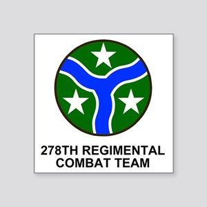 "ARNG-278th-RCT-Shirt Square Sticker 3"" x 3"""