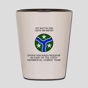 ARNG-128th-Infantry-1st-Bn-Iraq-Shirt.g Shot Glass