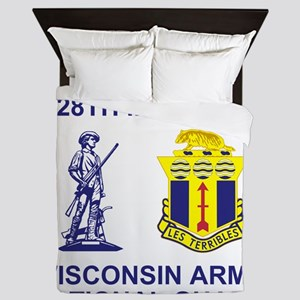 ARNG-128th-Infantry-1st-Bn-Shirt-8 Queen Duvet