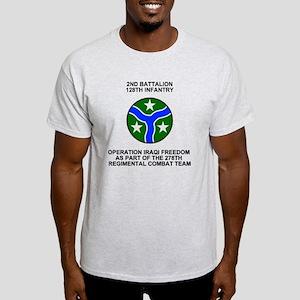 ARNG-128th-Infantry-2nd-Bn-Iraq-Shir Light T-Shirt
