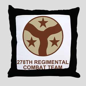 ARNG-278th-RCT-Shirt-Subdued Throw Pillow