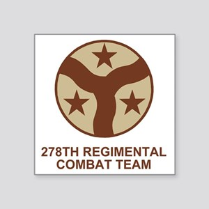 "ARNG-278th-RCT-Shirt-Subdue Square Sticker 3"" x 3"""
