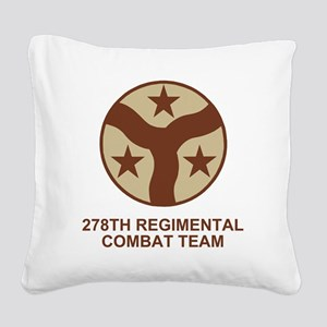 ARNG-278th-RCT-Shirt-Subdued. Square Canvas Pillow