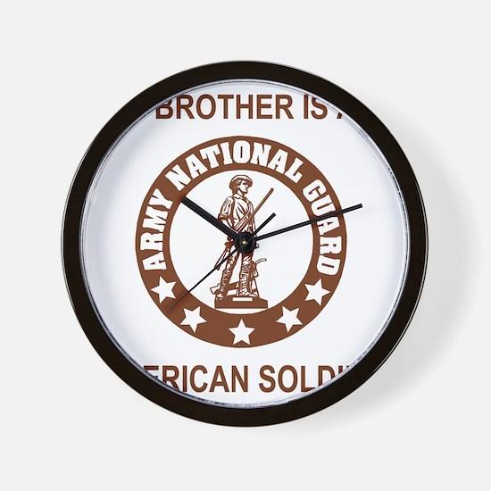 ARNG-My-Brother-Brown.gif Wall Clock