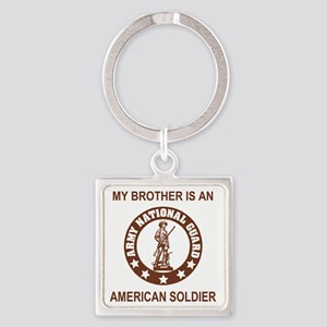 ARNG-My-Brother-Brown Square Keychain