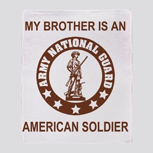 ARNG-My-Brother-Brown Throw Blanket