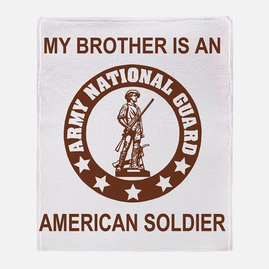 ARNG-My-Brother-Brown.gif Throw Blanket