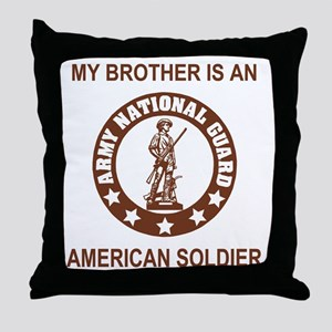 ARNG-My-Brother-Brown Throw Pillow