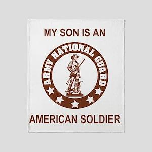 ARNG-My-Son-Brown Throw Blanket