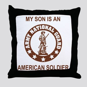 ARNG-My-Son-Brown Throw Pillow