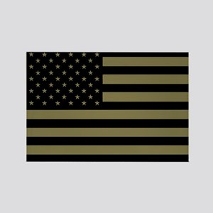 American-Flag-Subdued Rectangle Magnet