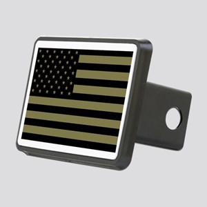 American-Flag-Subdued Rectangular Hitch Cover