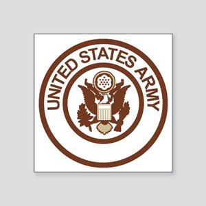 "Army-Logo-2-Desert Square Sticker 3"" x 3"""