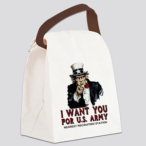 Uncle-Sam-Shirt Canvas Lunch Bag