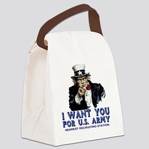Uncle-Sam-Shirt-Blue-Navy Canvas Lunch Bag