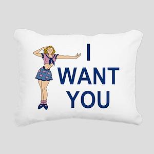 Misc-I-Want-You-Pink Rectangular Canvas Pillow