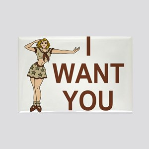 Misc-I-Want-You-Brown Rectangle Magnet