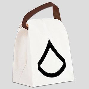 Army-PFC-Khaki-Cap Canvas Lunch Bag