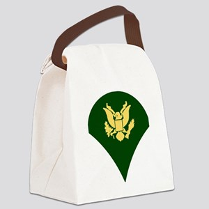 Army-Spec4-White-Cap Canvas Lunch Bag