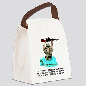 Misc-Up-To-Your-Ass-In-Snakes Canvas Lunch Bag