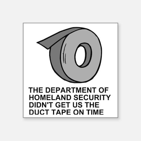 "FEMA-back.gif Square Sticker 3"" x 3"""