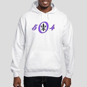 Fleur 504, purple Hooded Sweatshirt