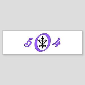 Fleur 504, purple Bumper Sticker