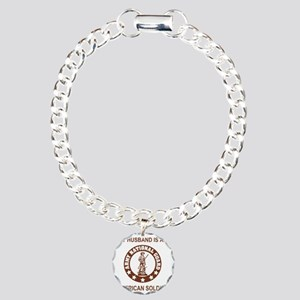 ARNG-My-Husband-Brown.gi Charm Bracelet, One Charm