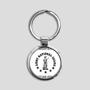 ARNG-My-Daughter Round Keychain