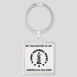 ARNG-My-Daughter Square Keychain