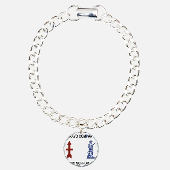 ARNG-132nd-Support-Bn-B- Charm Bracelet, One Charm